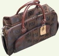 Сумка дорожно-хозяйственная 061, из ткани, цвет - светло-коричневый