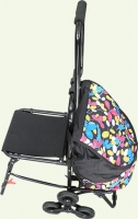 сумка хозяйственная на колёсах со стулом
