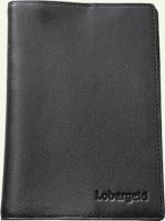 Обложка для паспорта Lobargeld 301, из натуральной кожи, цвет - черная
