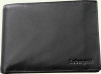 Портмоне, из натуральной кожи, с USB отделением Lobargeld 502, цвет - черный