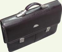 портфель 5063 из искусственной кожи, цвет - коричневый