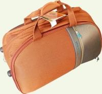 Сумка колесная SUMMIT 3/1 средняя оранжевая\светло-коричневая 6026-3TD