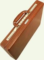 Кейс из натуральной кожи MONSCA 908821, цвет - коричневый