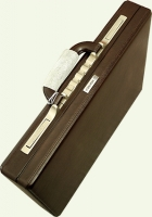 Кейс из натуральной кожи MONSCA 908821, цвет: темно-коричневый