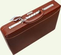 Кейс MONSCA 908832, из натуральной кожи, коричневый