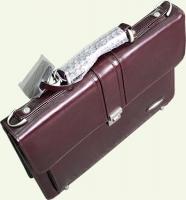 Портфель Pierre Cardin PC025н, из натуральной кожи, цвет - бордовый