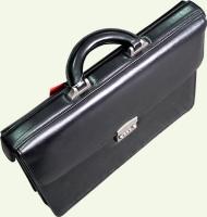 Портфель Pierre Cardin PC81147, из натуральной кожи, цвет - черный
