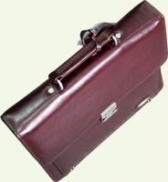 Портфель Pierre Cardin PC85012, из натуральной кожи, цвет - бордовый