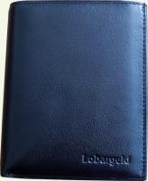Портмоне мужское Lobargeld 516, из натуральной кожи, черное