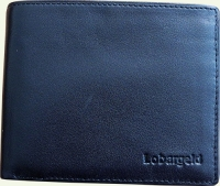 Портмоне мужское Lobargeld 519, из натуральной кожи, черное