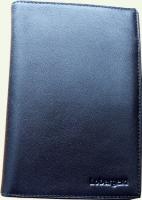 Портмоне мужское Lobargeld, артикул 601, из натуральной кожи, черное