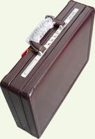Кейс Pierre Cardin PC0017, из натуральной кожи, бордо