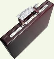 Кейс Pierre Cardin PC0018, из натуральной кожи, бордо