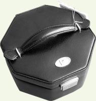 Шкатулка Pierre Cardin PC85037, из натуральной кожи, черная