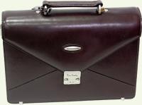 Портфель из натуральной кожи Pierre Cardin PC85063, цвет - бордовый