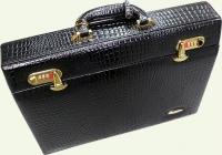 Кейс из кожи Pierre Cardin PC943С черный, вид сбоку