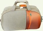 Сумка колесная SUMMIT 3/1 средняя светло-коричневая\оранжевая